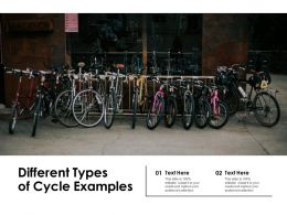 Different Types Of Cycle Examples