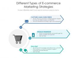 Different Types Of E Commerce Marketing Strategies