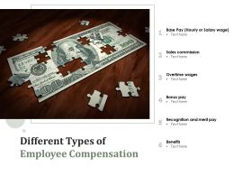Different Types Of Employee Compensation