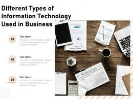 Different Types Of Information Technology Used In Business