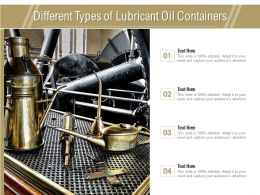 Different Types Of Lubricant Oil Containers