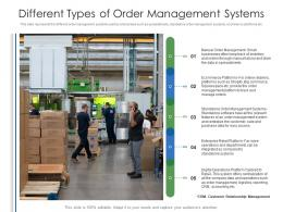 Different Types Of Order Management Systems