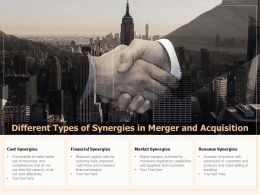 Different Types Of Synergies In Merger And Acquisition