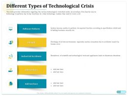 Different Types Of Technological Crisis Industrial Accidents Ppt Information