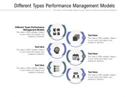 Different Types Performance Management Models Ppt Powerpoint Presentation Layouts Cpb
