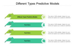 Different Types Predictive Models Ppt Powerpoint Presentation Icon Elements Cpb
