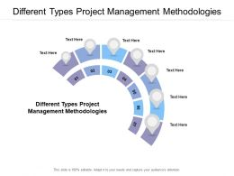 Different Types Project Management Methodologies Ppt Powerpoint Presentation Slides Cpb