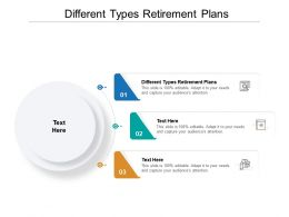 Different Types Retirement Plans Ppt Powerpoint Presentation Summary Examples Cpb