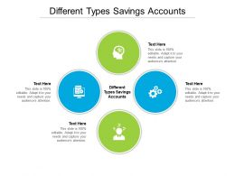 Different Types Savings Accounts Ppt Powerpoint Presentation Slides Show Cpb