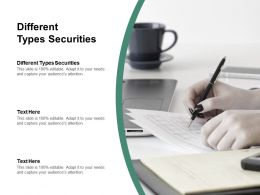 Different Types Securities Ppt Powerpoint Presentation Summary Themes Cpb