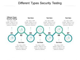 Different Types Security Testing Ppt Powerpoint Presentation Professional Design Ideas Cpb