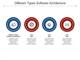 Different Types Software Architecture Ppt Powerpoint Presentation Portfolio Objects Cpb