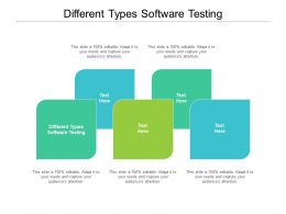 Different Types Software Testing Ppt Powerpoint Presentation Show Graphic Tips Cpb