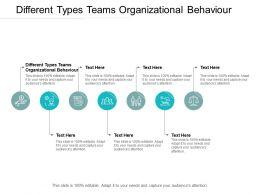 Different Types Teams Organizational Behaviour Ppt Powerpoint Inspiration Cpb