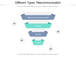 Different Types Telecommunication Ppt Powerpoint Presentation Tips Cpb
