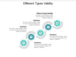 Different Types Validity Ppt Powerpoint Presentation Outline Slide Cpb
