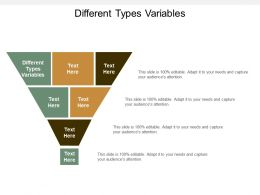 Different Types Variables Ppt Powerpoint Presentation Show Summary Cpb