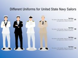 Different Uniforms For United State Navy Sailors