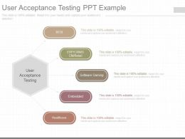 Different User Acceptance Testing Ppt Example