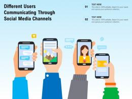 Different Users Communicating Through Social Media Channels