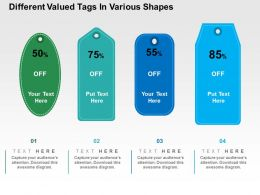 Different Valued Tags In Various Shapes Flat Powerpoint Design