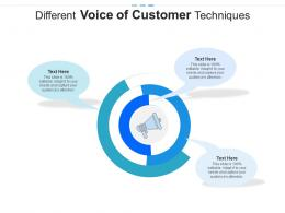 Different Voice Of Customer Techniques Infographic Template