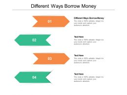 Different Ways Borrow Money Ppt Powerpoint Presentation File Portfolio Cpb