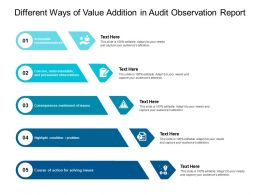 Different Ways Of Value Addition In Audit Observation Report
