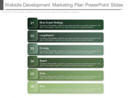 Different Website Development Marketing Plan Powerpoint Slides