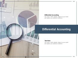 Differential Accounting Ppt Powerpoint Presentation Layouts Picture Cpb