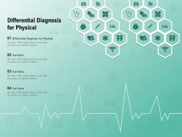 Differential Diagnosis For Physical Ppt Powerpoint Presentation Infographic Template Slide