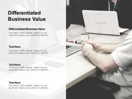 Differentiated Business Value Ppt Powerpoint Presentation Infographic Template Ideas Cpb