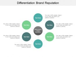Differentiation Brand Reputation Ppt Powerpoint Presentation Show Infographic Cpb