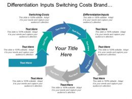 Differentiation Inputs Switching Costs Brand Identity Capital Requirements