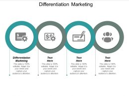 Differentiation Marketing Ppt Powerpoint Presentation File Aids Cpb