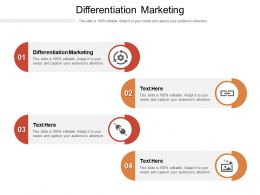 Differentiation Marketing Ppt Powerpoint Presentation Pictures Graphics Cpb