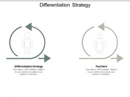 Differentiation Strategy Ppt Powerpoint Presentation File Themes Cpb