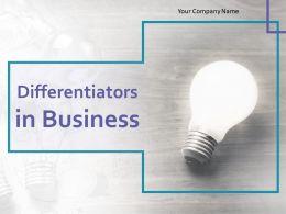 Differentiators In Business Powerpoint Presentation Slides