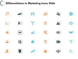 Differentiators In Marketing Icons Slide Direction K26 Ppt Powerpoint Presentation Example