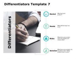 Differentiators Ppt Powerpoint Presentation Model Background Designs