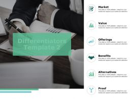 Differentiators Template Benefits Ppt Powerpoint Presentation Infographics Themes