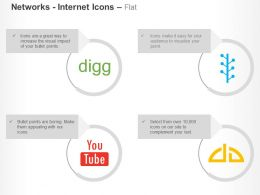 Digg Youtube Devianart Ppt Icons Graphics