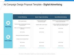 Digital Advertising Ad Campaign Design Proposal Template Ppt Powerpoint Portfolio Format