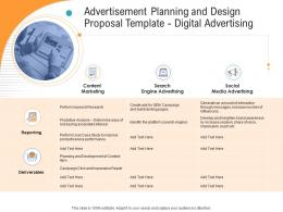 Digital Advertising Advertisement Planning And Design Proposal Template Ppt Powerpoint Styles