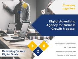 Digital Advertising Agency For Business Growth Proposal Powerpoint Presentation Slides