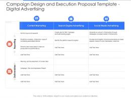 Digital Advertising Campaign Design And Execution Proposal Template Ppt Powerpoint Outline