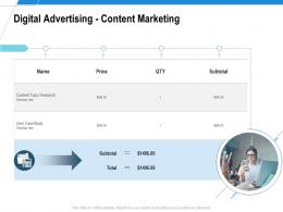 Digital Advertising Content Marketing Ad Campaign Design Proposal Template Ppt Samples