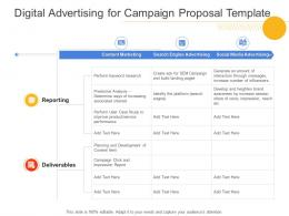 Digital Advertising For Campaign Proposal Template Ppt Powerpoint Presentation Ideas Design