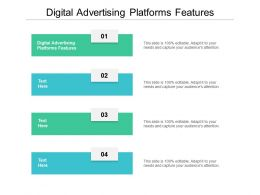 Digital Advertising Platforms Features Ppt Powerpoint Presentation File Introduction Cpb
