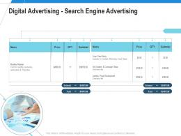Digital Advertising Search Engine Advertising Ad Campaign Design Proposal Template Ppt Pictures